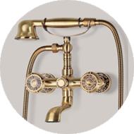 Смесители для ванной Bronzedeluxe