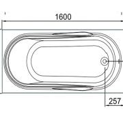 Схема ванны Rio la PLATA 160х75х65
