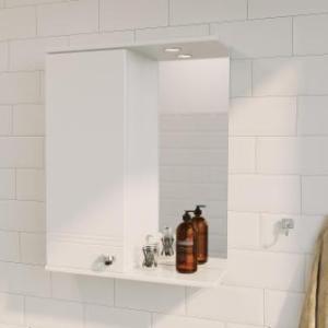 Зеркало-шкаф Story 58 1д. белый глянец .